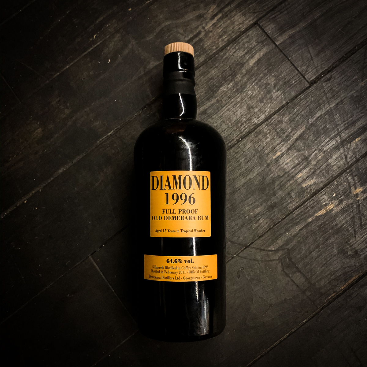 Diamond 1996 Full Proof Demerara Rum, Velier